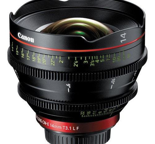 Canon CN-E 14mm T3.1 L F Cinema Prime in Stock
