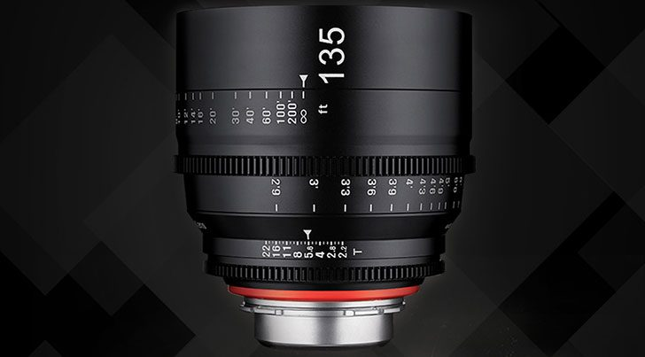 Samyang Launches 135mm t/2.2 XEEN Lens