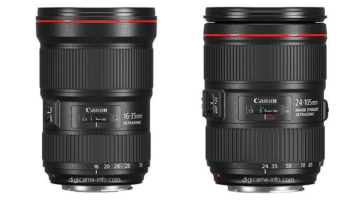 *UPDATED* EF 16-35mm f/2.8L III & EF 24-105mm f/4L IS II Images & Specifications