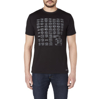 Canon History T shirt Black L Front tcm14 1551714 - Canon UK Launches New Merchandise Collection