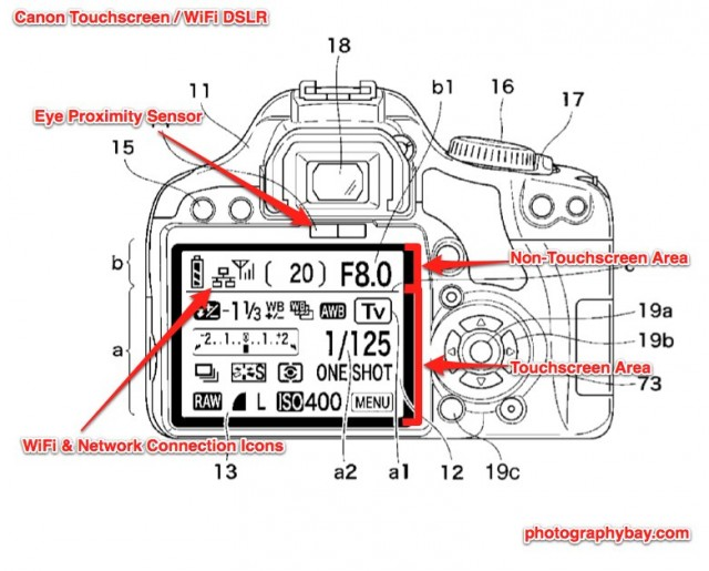 Canon Touchscreen and WiFi DSLR 640x515 patent touchscreen & wifi rebel? canon rumors