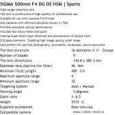 500mm f4 DG OS HSM lens specifications 168x168 - New Sigma Lenses Coming Today