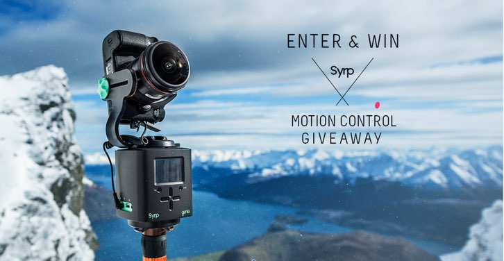 Syrp & Canon Rumors Motion Control Giveaway Valued at Over $3000