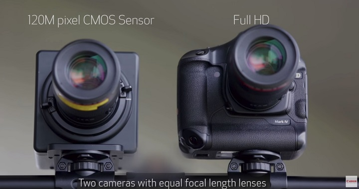 Canon shows off the 120MP APS-H sensor shooting video