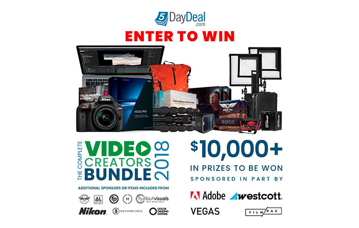 The 2018 5DayDeal Video Creators $10,000 Giveaway is Now Live!