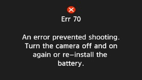 Service Advisory: Canon EOS 70D For Error 70 & Error 80   Canon Rumors