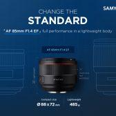 AF85mm 2 168x168 - Samyang AF 85mm f/1.4 Coming Soon