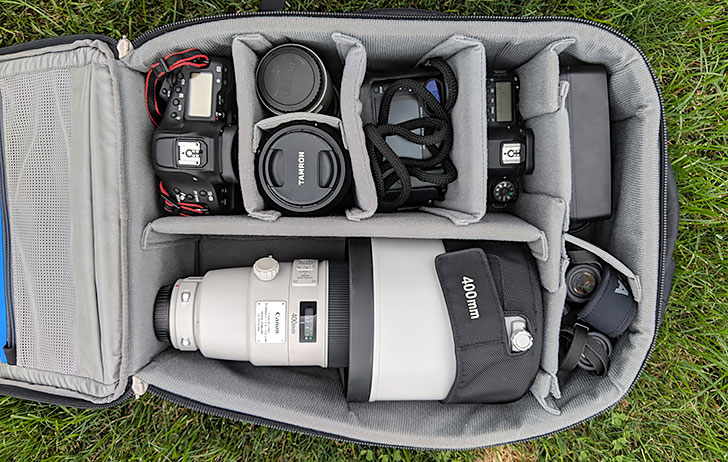 When I go on safari, what's in my camera bag?