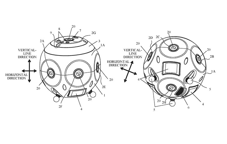 Patent: 360 degree camera from Canon
