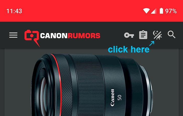 We've added a dark theme to canonrumors.com