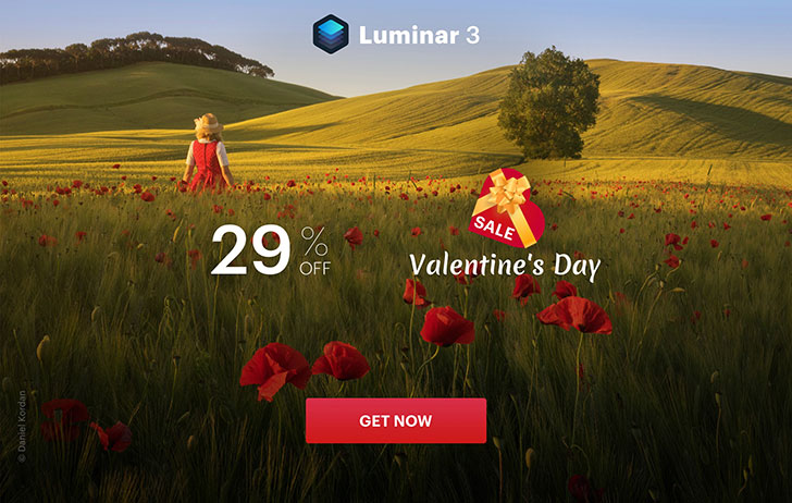 Deal: Happy Valentine's Day from Skylum, save on Luminar 3