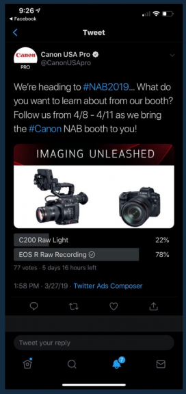 canonusatweet 272x575 - So what has become of the rumored EOS R and C200 video feature updates?