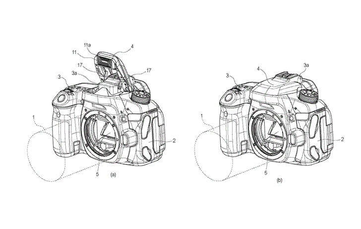 Patent: LED lights included with the pop-up flash on a DSLR