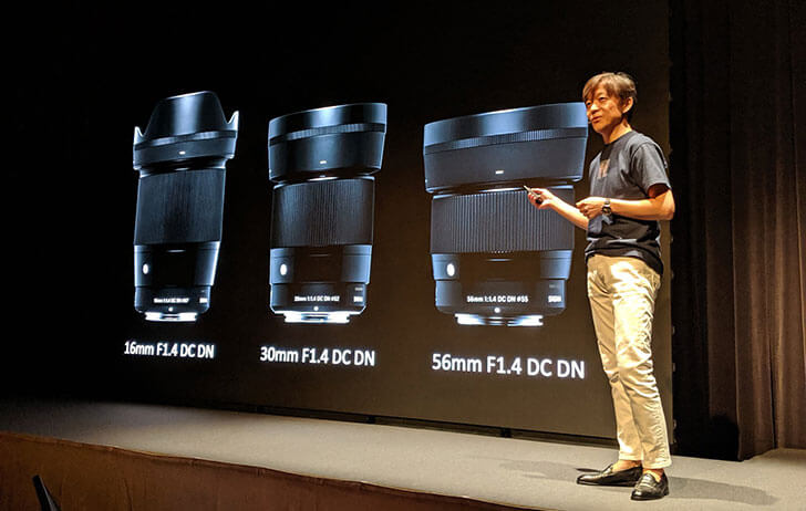 SIGMA announces three DC DN prime lenses for the EF-M mount