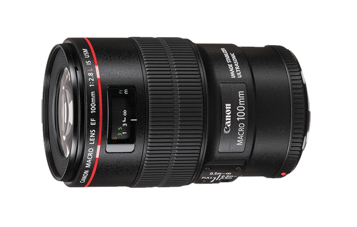A Canon RF 100mm f/2L IS USM Macro gets a mention [CR1]