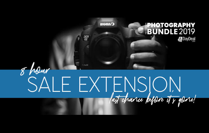 Ended: The Complete Photography Bundle 2019 event has been extended 8 more hours