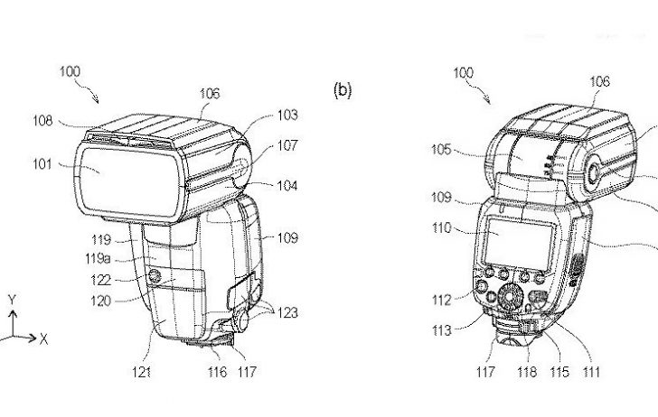 Canon Patent:  Hybrid Speedlite with active cooling