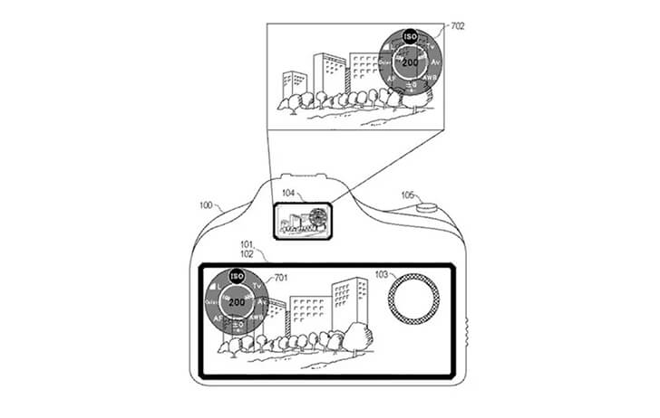Patent: Large LCD equipped mirrorless camera