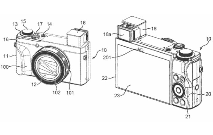 Patent: Pop up viewfinder to allow for larger rear LCD displays