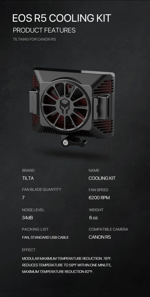3 2 516x1024 - Tilta shows off a cooling module for the Canon EOS R5