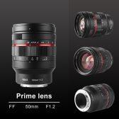 MEKE 50MM F1.2 manual focus lens 168x168 - Meike announces a 50mm f/1.2 lens for the RF mount