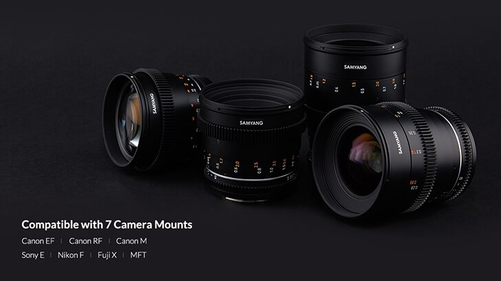 New Samyang Cine Prime lenses coming to Canon EF, EF-M and RF mounts