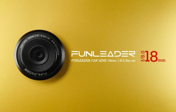 The Funleader 18mm f/8 Cap Lens is now available for the RF mount