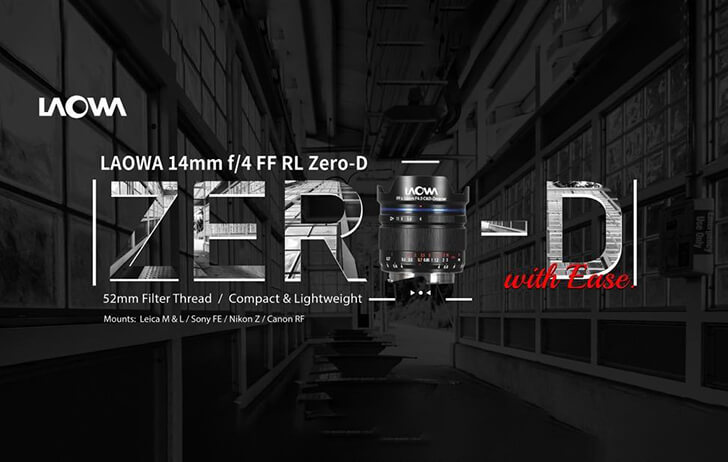 Venus Optics announces the Laowa 14mm f/4 FF RL Zero-D lens for full-frame mirrorless cameras