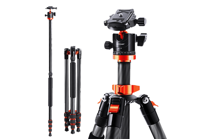 Deal of the Day: K&F Concept Carbon Fiber tripod, ball head and monopod kit $99 (Reg $136)