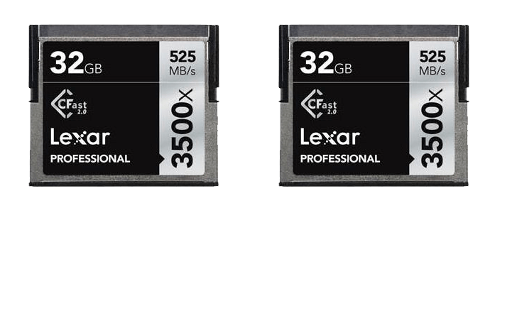 Deal of the Day: Lexar 2 Pack 32GB Professional 3500x CFast 2.0 $39 (Reg $99)