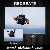 PhotoRepairPro  photo recreation remove skydiving instructor 168x168 - Former exclusive Costco Photo Center partner launches PhotoRepairPro.com