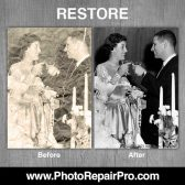 PhotoRepairPro black and white photo restoration wedding photo 168x168 - Former exclusive Costco Photo Center partner launches PhotoRepairPro.com
