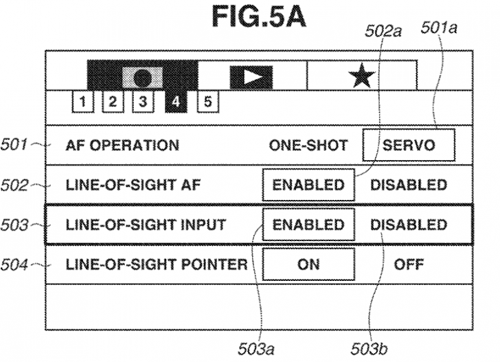 eye af settings 728x527 - Patent: Canon shows off some information about the eye-controlled AF point selection