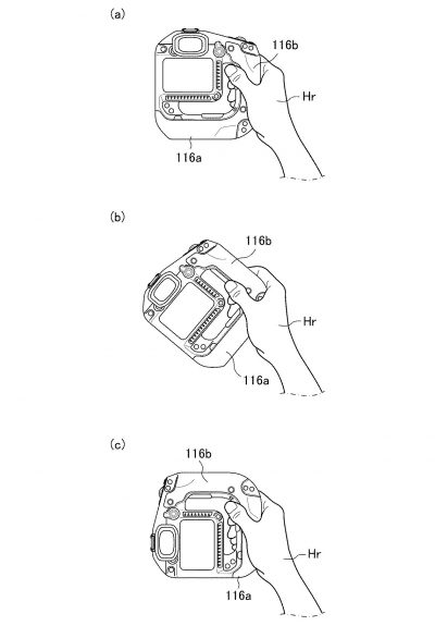 JPA 503117300 i 000009 400x575 - Patent: A new mirrorless camera body design with integrated grip with pass-through