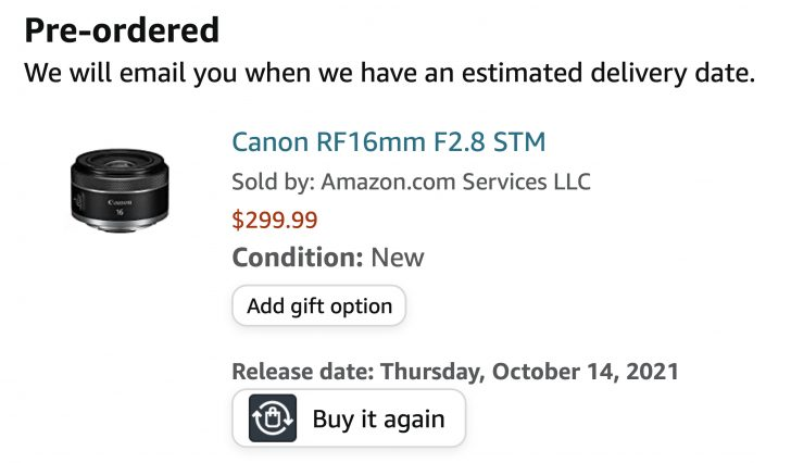 2021 09 07 Larger.Canon RF 16mm f2.8.Amazon 728x426 - Here is the Canon RF 16mm f/2.8 STM
