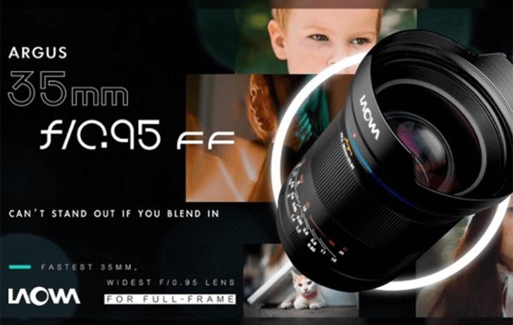 Venus Optics announces the Laowa Argus 35mm f/0.95 for full-frame cameras, including the RF mount