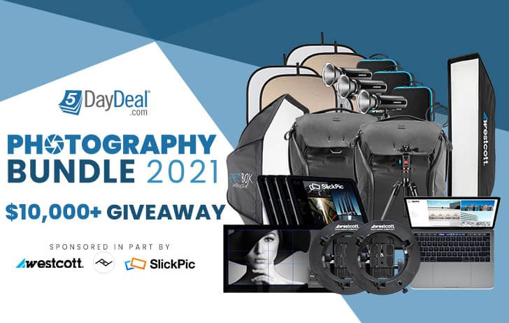 Enter the 5DayDeal $10,000 giveaway, with prizes from Peak Design, Westcott and more