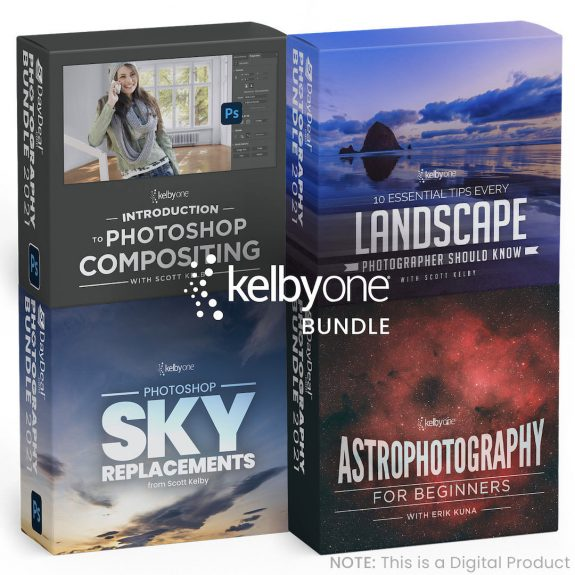 KelbyOne Bundle 575x575 - It's back! The 5DayDeal Photography Bundle is all new for 2021 and it's the best one yet